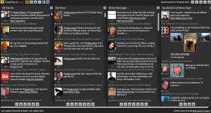 Sociala medier som Twitter, Facebook och MySpace kan hanteras via TweetDeck