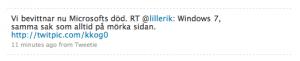 ReTweet på Twitter blir enkelt om det finns teckenutrymme.