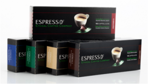 kaffekapslar i flera smaker