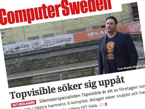 Wow, TopVisible är på plats 12 i Sverige!
