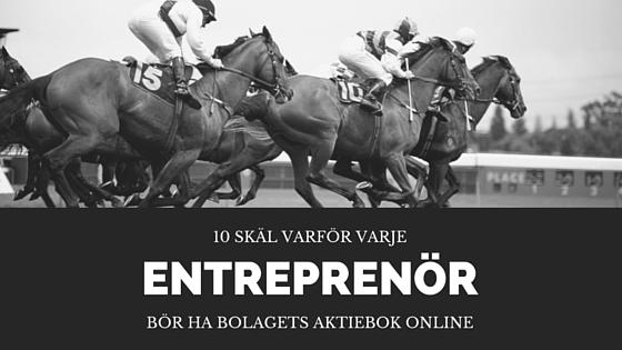 10 skäl varför varje entreprenör bör ha bolagets aktiebok online