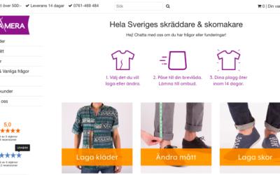 Repamera, en startup med skräddare och hållbarhetstänk