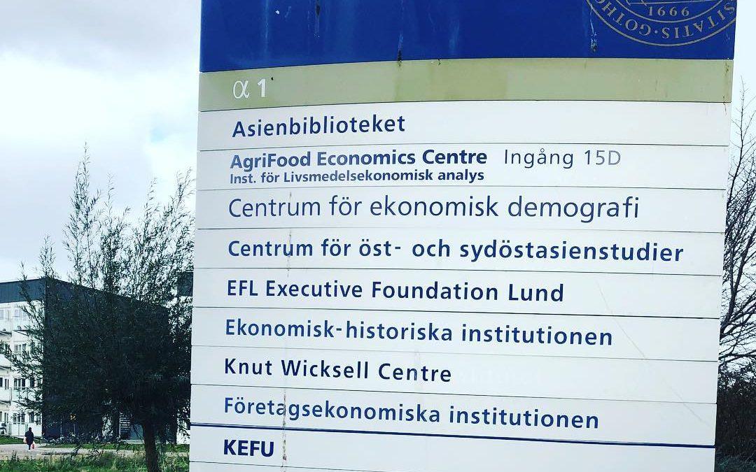 Föreläste för entreprenörer vid Lunds Universitet