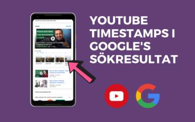 YouTube timestamps är nu synligt på Google