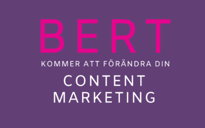 BERT kommer förändra din Content Marketing