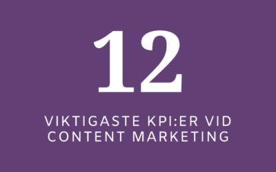 12 viktigaste KPI:er vid Content Marketing