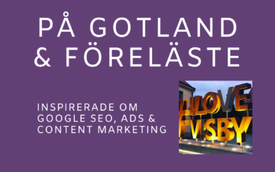 Föreläste om Google SEO, Ads & Content Marketing